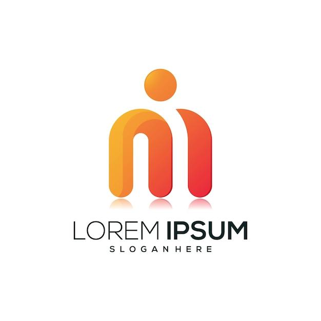 Иконка письмо м логотип Premium векторы