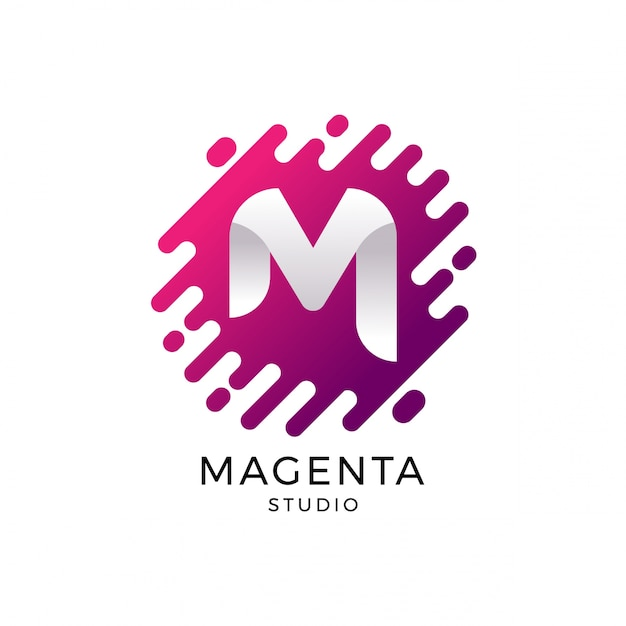 Letter M Logo Template Premium Vector