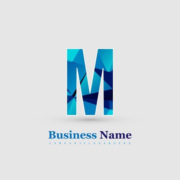 letter m logo vector free download