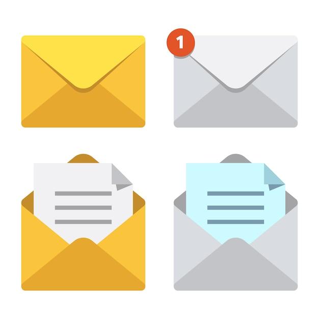 Letter in mail envelope Premium Vector