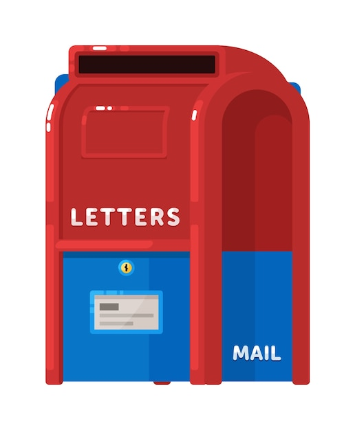 Letter or mail postage box isolated Premium Vector