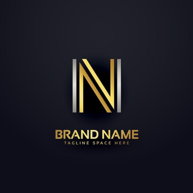 Letter n modern luxury logo Free Vector