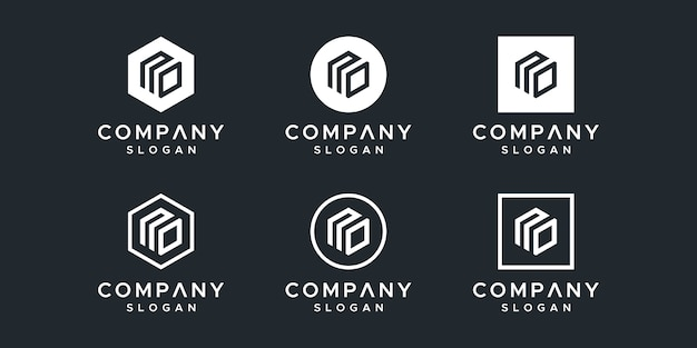 文字なしロゴデザインベクトル Premiumベクター