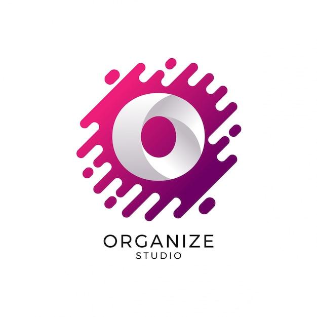 Letter o logo, logo template Premium Vector