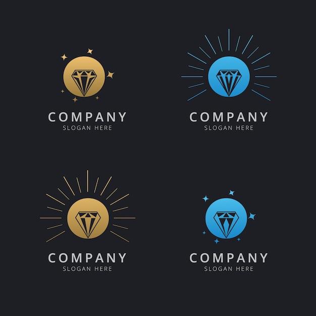 Буква o с роскошным абстрактным алмазным шаблоном логотипа Premium векторы