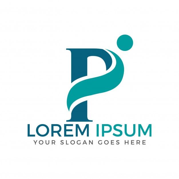 P Design: Letter P Adoption And Community Care Logo Design. Vector