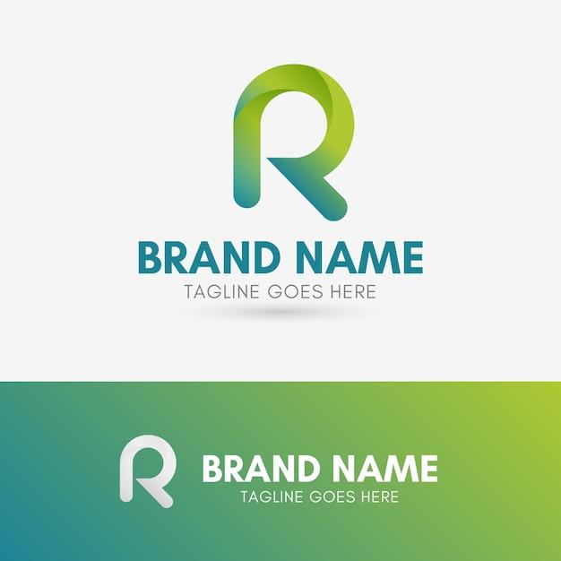 Letter r rounded logo Premium Vector