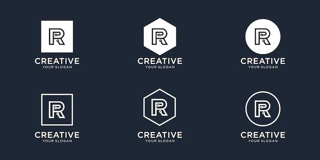 文字rテクノロジーのロゴデザイン Premiumベクター