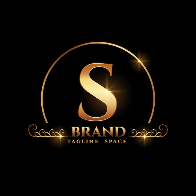 Letter s brand logo concept in golden style | Free Vector