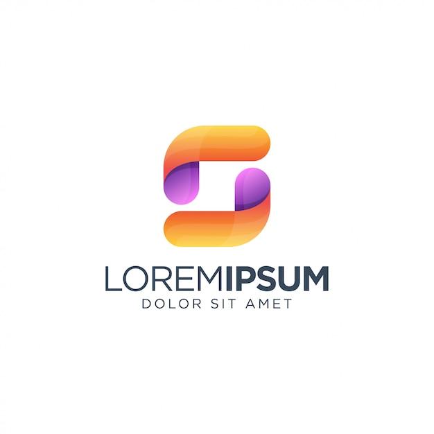 Letter s colorful logo Premium Vector
