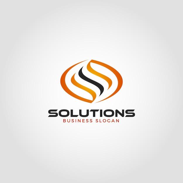 Letter s energy solution logo template Premium Vector