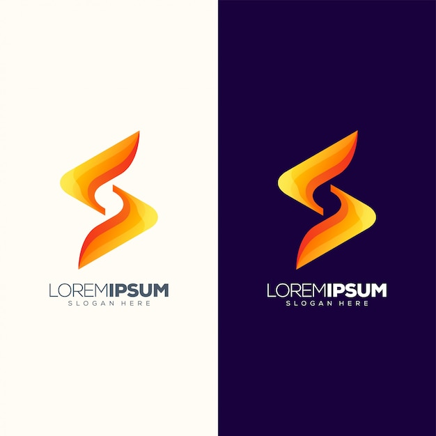 Letter s logo design vector illustration ready to use Premium Vector