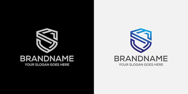 Letter s shield protection logo Premium Vector