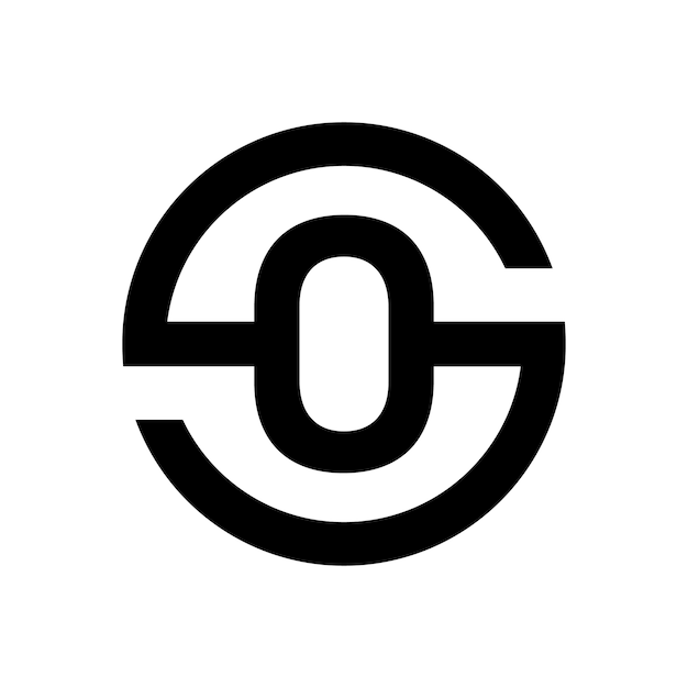 Letter s symbol combination with letter o Premium Vector