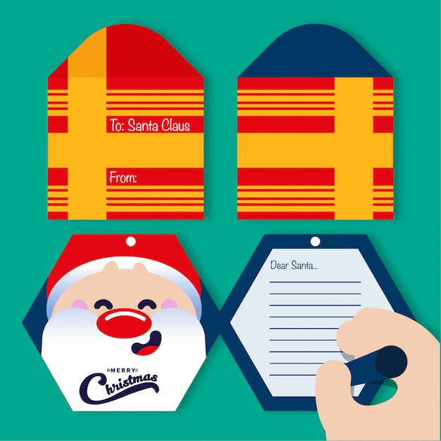 Letter to santa Premium Vector
