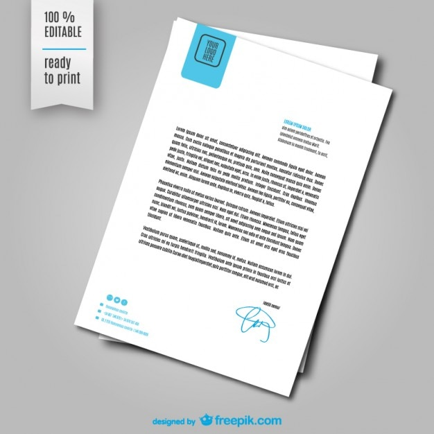 Letter sheet template Free Vector
