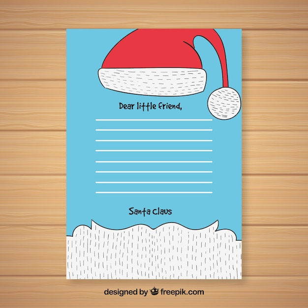 Letter template with a beard of santa claus vector free download letter template with a beard of santa claus free vector spiritdancerdesigns Choice Image
