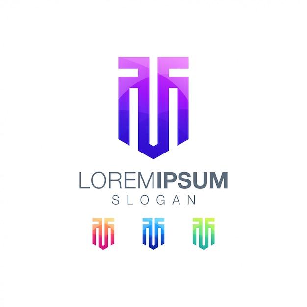 Letter tm gradient color logo template Premium Vector