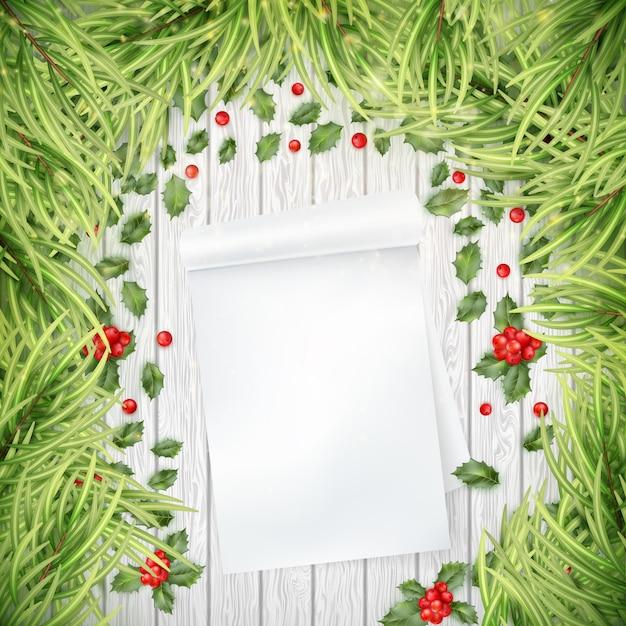 Письмо санта-клауса рождественские декоративные шаблон. а также включает в себя Premium векторы