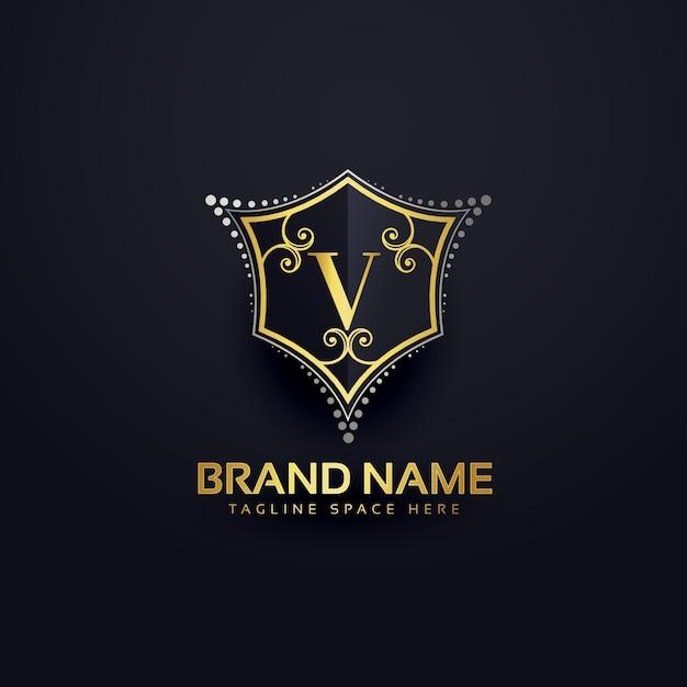Letter V Luxury Logo Vector