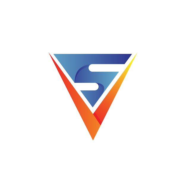 Letter v and s logo design Premium Vector