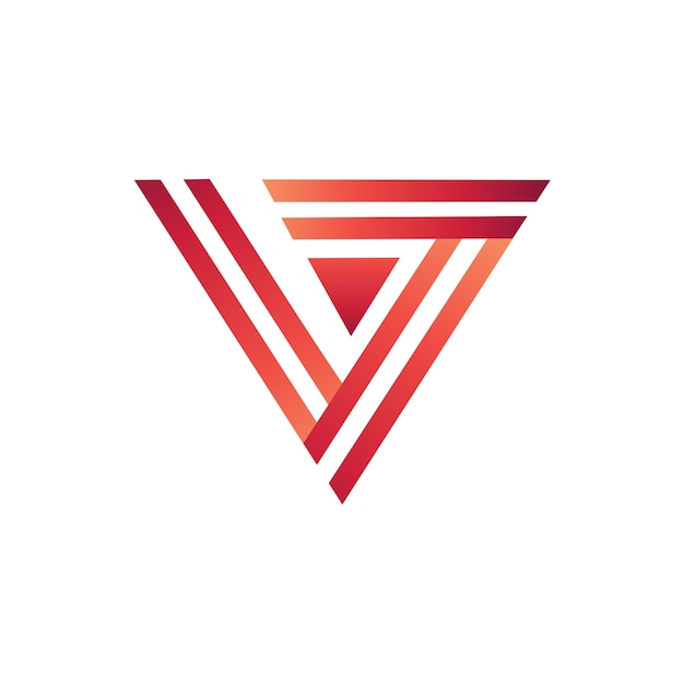 Letter v with line style logo template Premium Vector