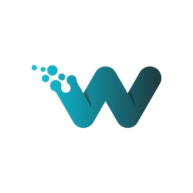 Letter w logo design Premium Vector
