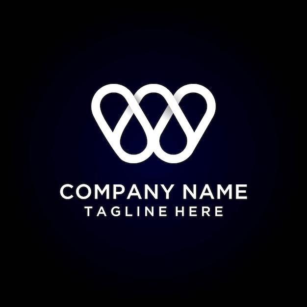 Letter w modern logo Premium Vector