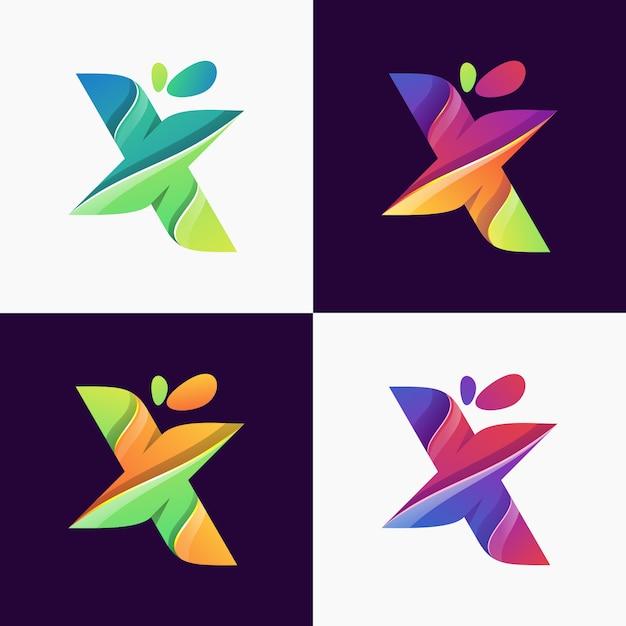 Letter x logo vector Premium Vector