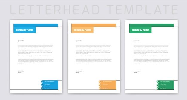 Letterhead design Premium Vector
