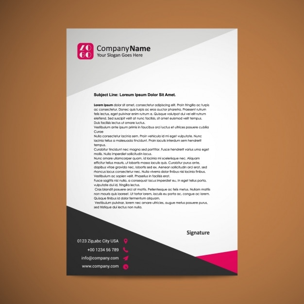 Letterhead template design Free Vector