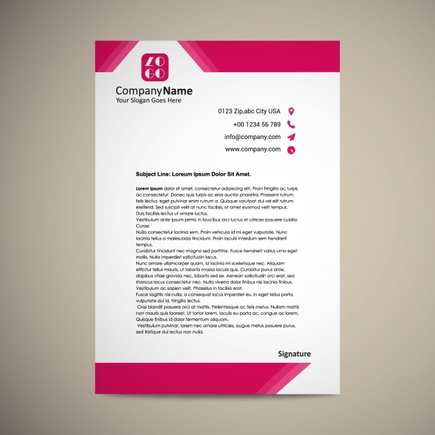 Letterhead template design vector free download letterhead template design free vector spiritdancerdesigns Image collections