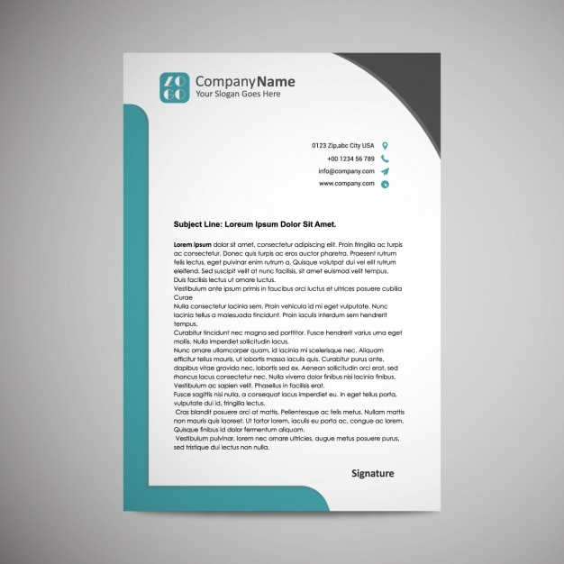 Letterhead Template Design Free Vector  Business Letterhead Template Free