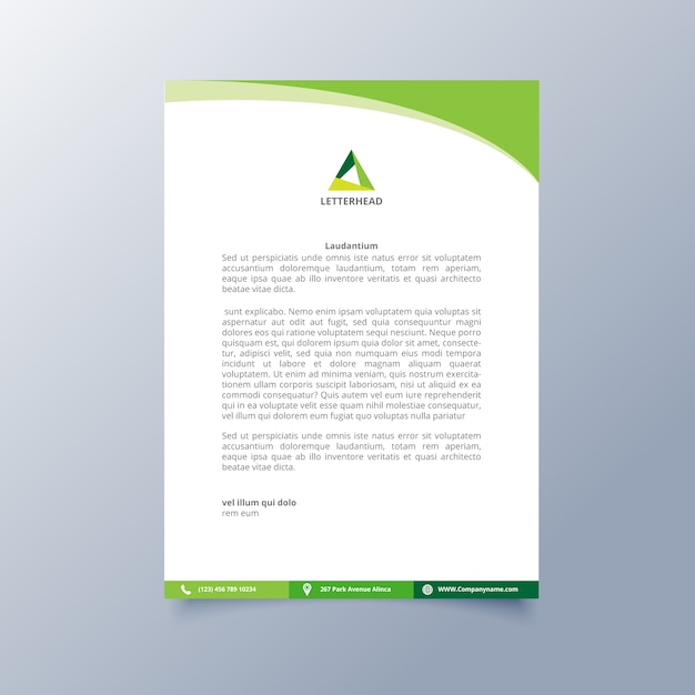 Letterhead template design vector free download letterhead template design free vector spiritdancerdesigns Gallery