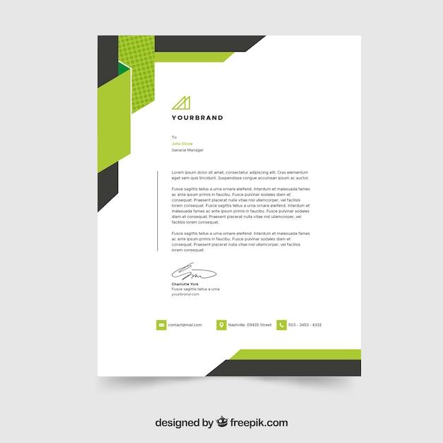Eps Corporate Letterhead Template 000105: Letterhead Template In Flat Style Vector
