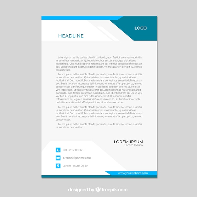 Corporate Psd Letterhead Template Psd File: Letter A Vectors, Photos And PSD Files