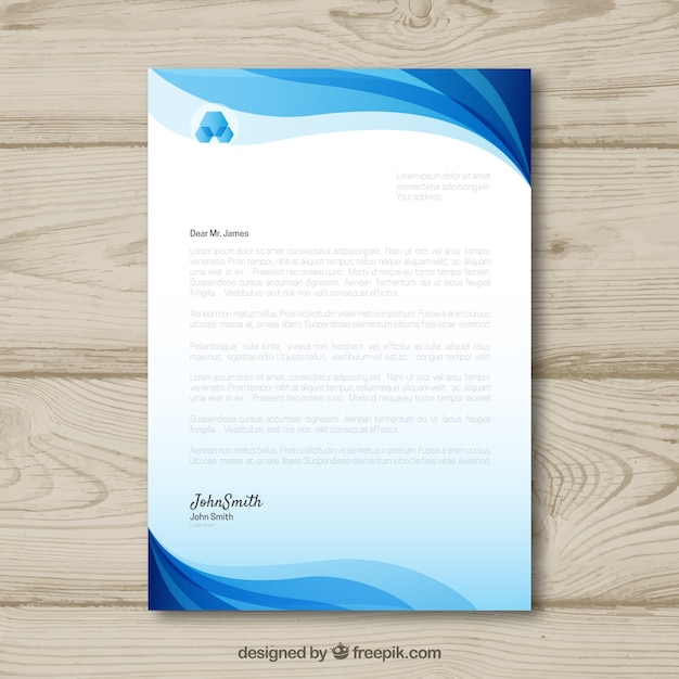 Letterhead template in gradient style Free Vector