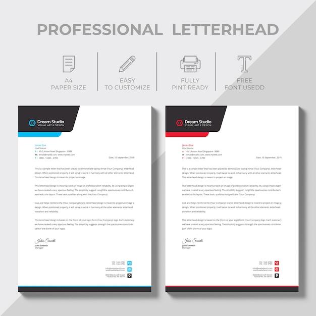 Letterhead template Free Vector