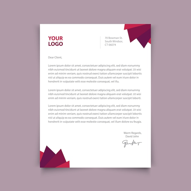 Letterhead дизайн шаблона Бесплатные векторы