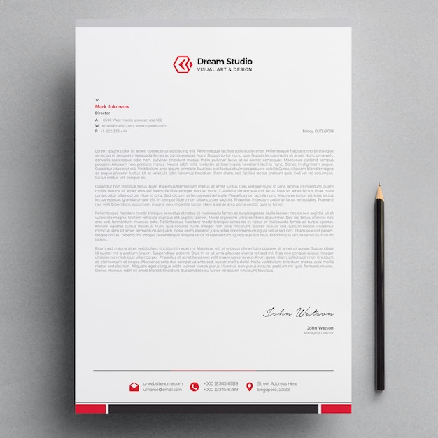 Letterhead Premium Vector
