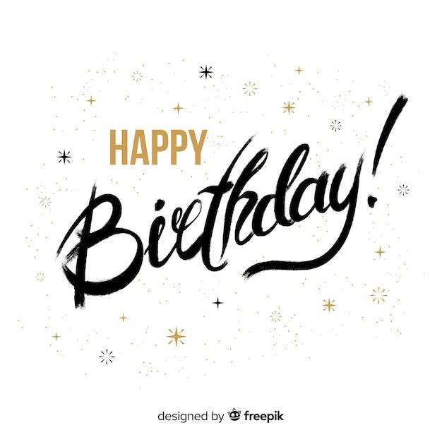 Lettering birthday Free Vector