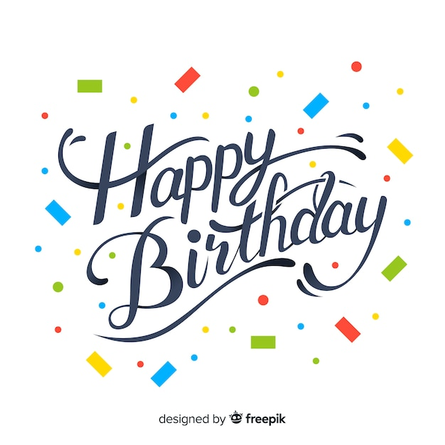Lettering birthday Free Vector