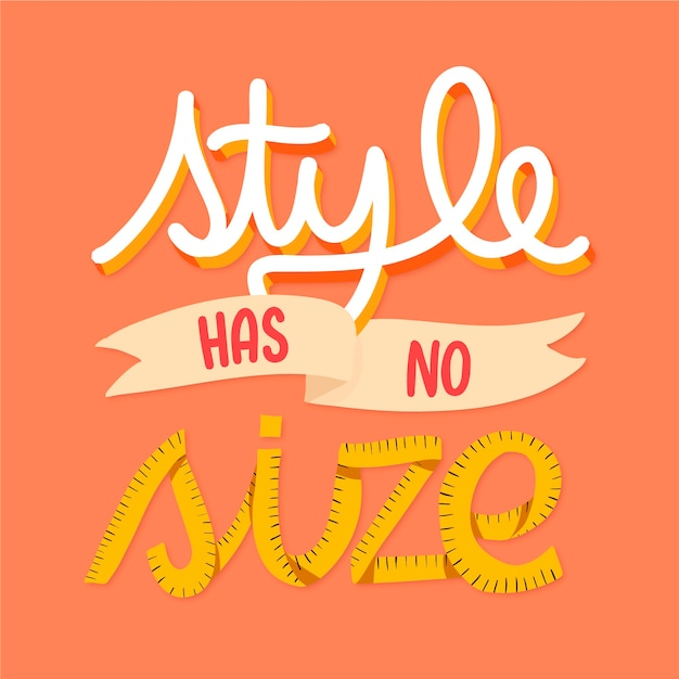 Lettering body positive Free Vector