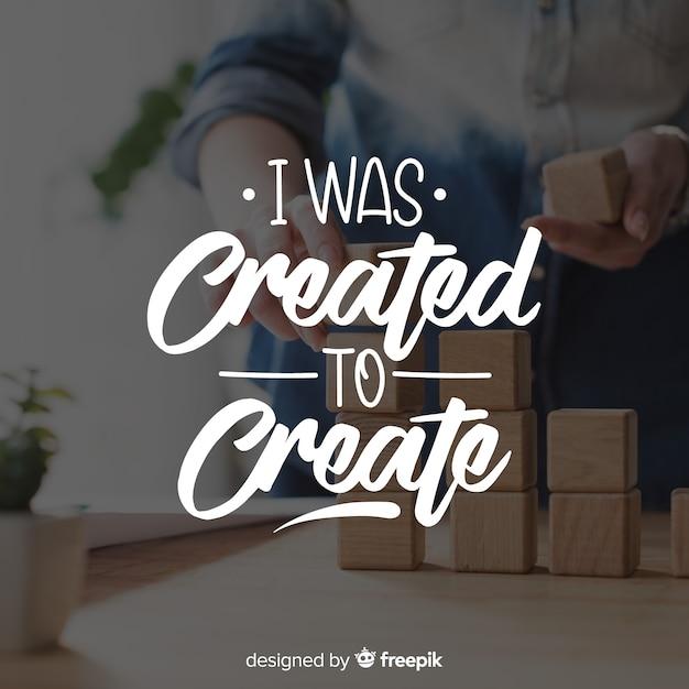 Lettering design for creativity purposes Free Vector