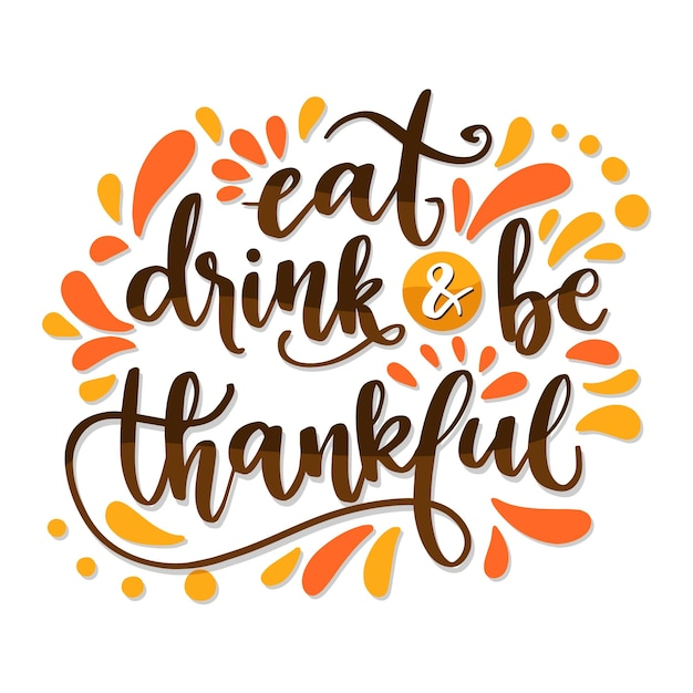Lettering design for thanksgiving day Free Vector
