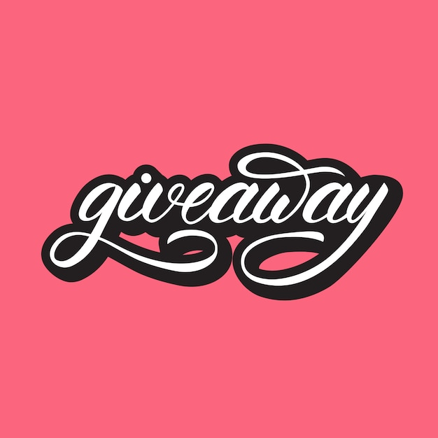 Lettering design with a word giveaway | Premium Vector