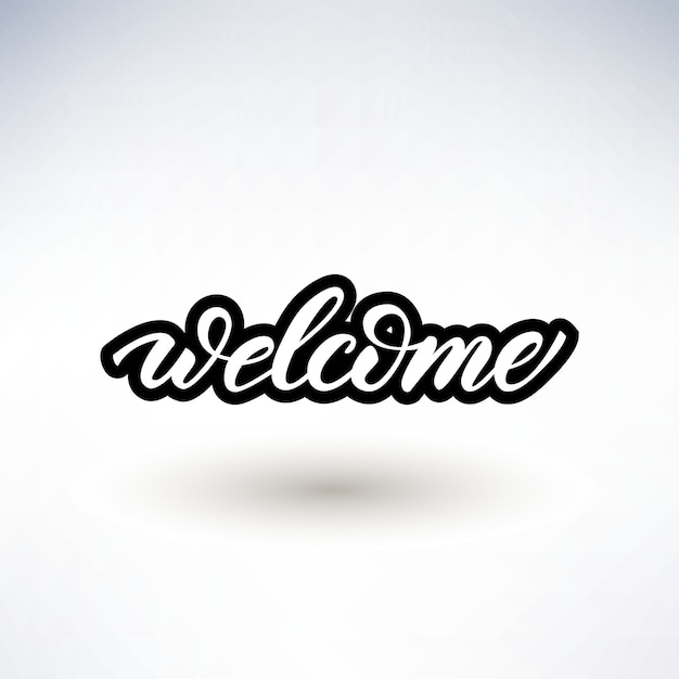 Premium Vector Lettering Design With A Word Welcome