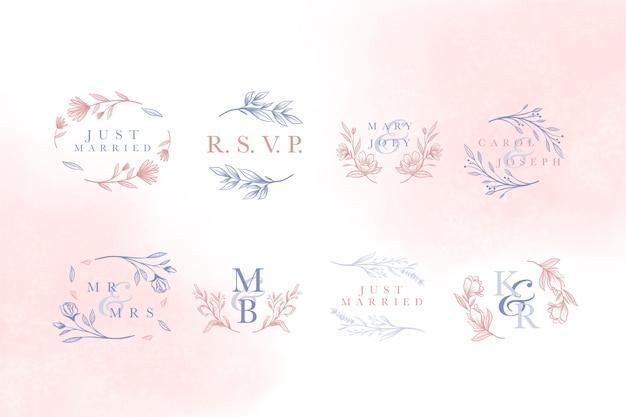 Lettering elegant concept for wedding Free Vector