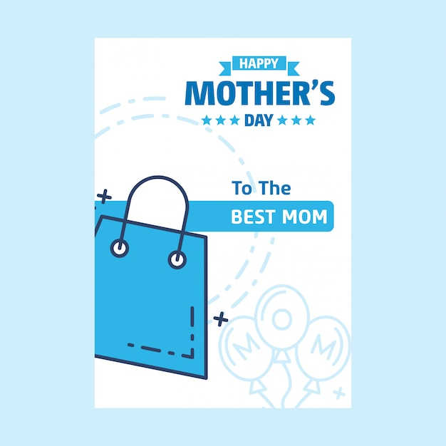Lettering happy mothers day blue background Free Vector