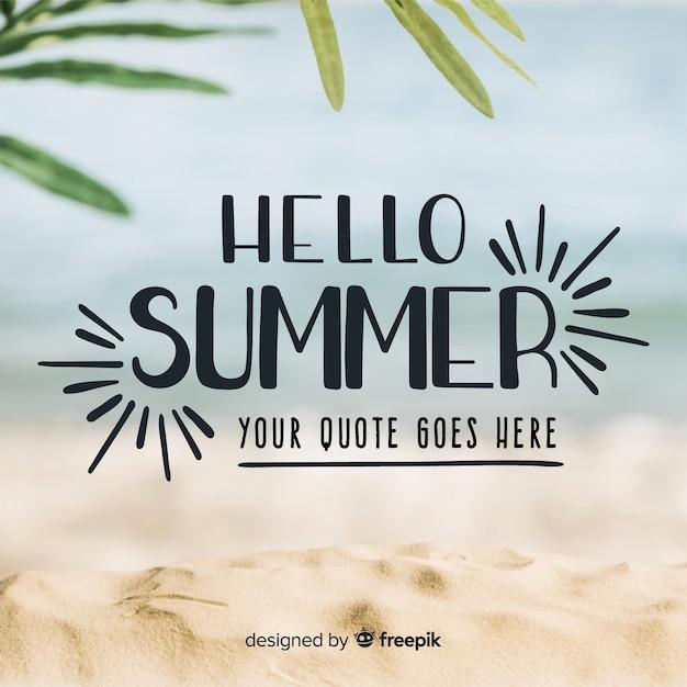 Lettering hello summer Free Vector